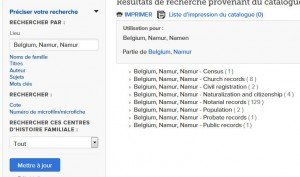 FamilySearch - Namur